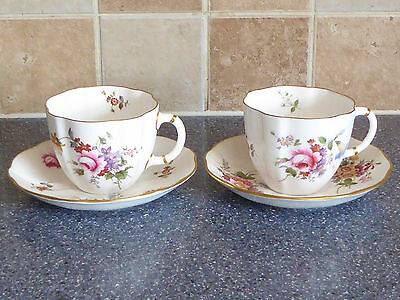 Royal Crown Derby , Derby Posies Tea Cups & Saucers X2 China , Dinner Service