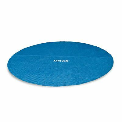 Intex 15 Foot Round Easy Set Vinyl Solar Cover for Swimming Pools, Blue | 29023E