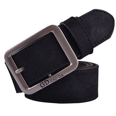Fashion Mens Waistband Leather Automatic Buckle Belt Waist Strap Belts Black