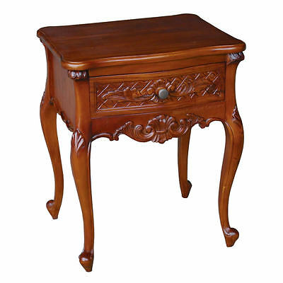 French One Drawer Mahogany Bedsides (Price per Pair) - New - In Stock -