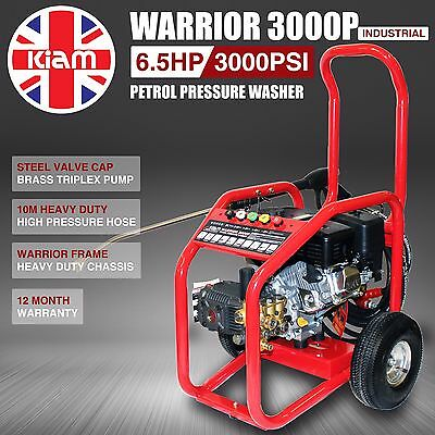 Warrior 3000P Commercial Petrol Pressure Washer Jet Cleaner 3000PSI by KIAM