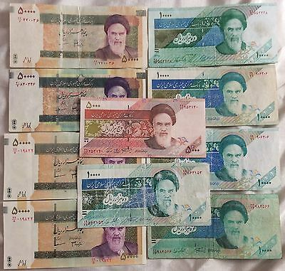 Persia,group Of X 10 Fake Notes,novelty,tricks,games,fun.