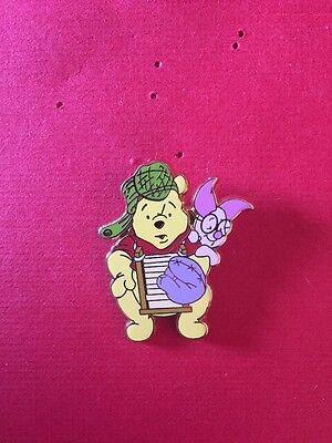 Disney Tokyo DLR Winnie The Pooh & Piglet Playing Old Style Baseball Pin