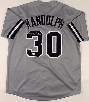 Willie Randolph Signed Yankees Custom Grey Jersey Jsa W Authenticated