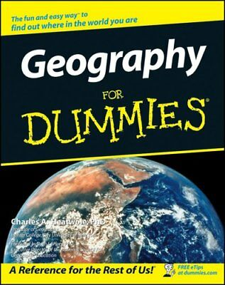 Geography for Dummies by Charles A. Heatwole 9780764516221 (Paperback, 2002)