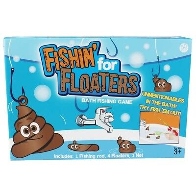 Fishin For Floaters Bath Time Tub Game Fishing Fish For Poo Turd Disgusting Fun