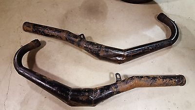 Yamaha RD400 RD 400 DG exhaust pipes expansion chambers parting out bike