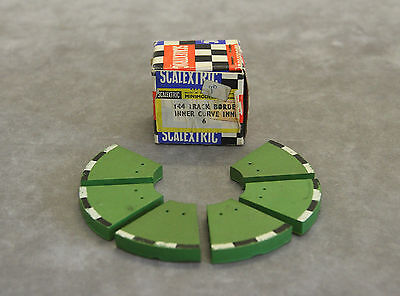 Vintage SCALEXTRIC MM/T44F R1 Inner Track Run-Off Borders x6 (Rubber) - BOXED!