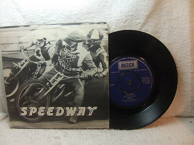 """The Rivals – Speedway 1974 7"""" in picture cover – Decca F 13509"""