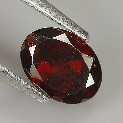 Cute 1.34 Ct Natural Africa ALMANDINE RED GARNET Oval Gemstone !!