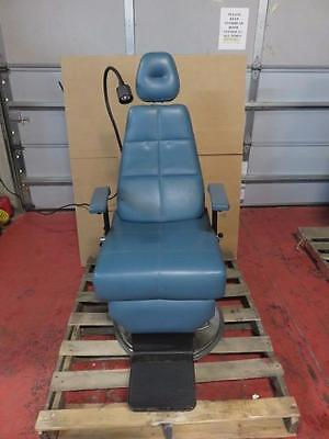 DMI E200PS Hydraulic ENT / Exam Chair- Blue with Sunnex Halogen Lamp