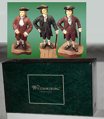 Lang and Wise Williamsburg 30489735 Strolling Men Set of 3 - NEW in Sealed Box