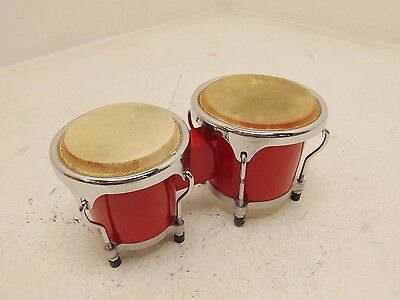 """Mini Bongos 4"""" + 5"""" by Gear4music, Red - USED"""