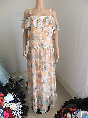 STUNNING Bnwt NEXT  Size 18 COLD SHOULDER  Maxi Dress CRUISE PROM  HOLIDAY