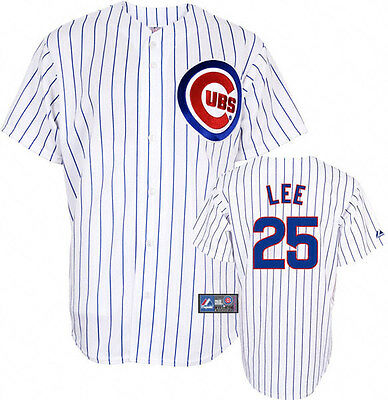 ~nwt~Majestic CHICAGO CUBS DERRICK LEE shirt Baseball Jersey Top~YOUTHS Sz 18-20