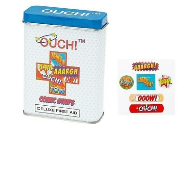 Ouch! Comic Strip Childs Kids First Aid Tin Plasters (24 Pack) Quanity Choice...