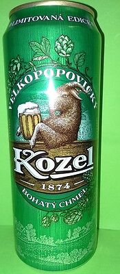 Velkopopovicky Kozel 0.45 l.beer can from Russia.Limited Edition/Bohaty Chmel