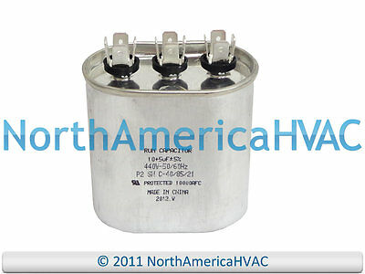 NEW Packard Oval Dual Motor Capacitor 45+5 uf MFD 370 440 Volt POCD455 POCD455A
