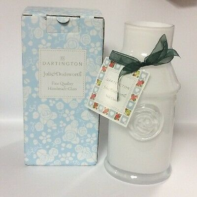 Dartington Julie Dodsworth Fine Quality Glass Small Milk Churn, White JD05