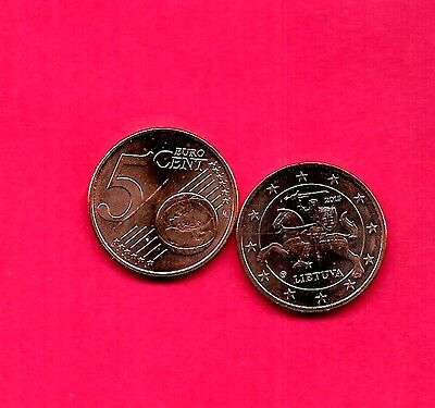 Lithuania 2015 Unc-Uncirculated Mint New 5 Euro Cents Coin
