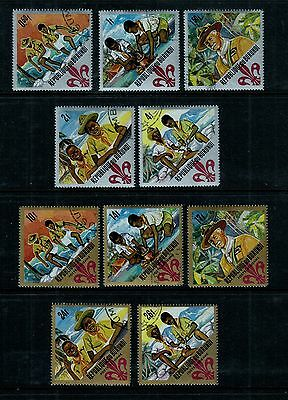 BURUNDI #207-211; C41-C45 Used 1967 BOY SCOUTS, Postage & Airmail Complete Set