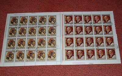 Lenin   Two Complete Sheets Of 20  Fine Used  From Hungary 1967