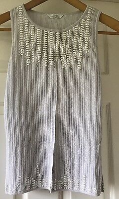 Marks & Spencer's Ladies size 12/14 Grey Sequinned sleeveless Top