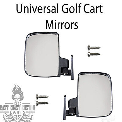 Golf Cart Review Mirror 2 Side Mount Mirrors Universal EZGO, Club Car, Yamaha