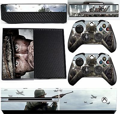 CALL OF DUTY WWII xbox one skins decals stickers + kinect + 2 cont
