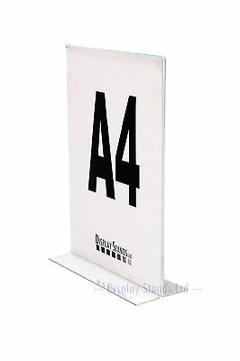 Double Sided Portrait Acrylic Literature Menu Poster Counter Display A7-A4 (SU+)