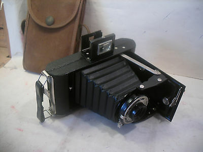 vintage working Kodak Folding Brownie Six 20 Belows Camera & case