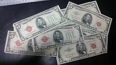 $5 U.S. Red Seal Notes