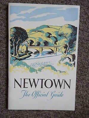 NEWTOWN Montgomeryshire 1949-50 (?) Official Guide Burrow & Co - Street Guide