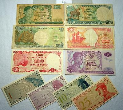 Lot Of 10 Notes From Indonesia #c224