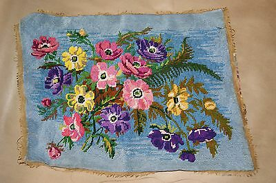 Gorgeous Old Shabby Flowers Flowers all over completed needlepoint