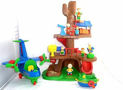 Caillou & Friends Tree House Playset + Plane + Car + Extras Figures Toy Tv Cinar