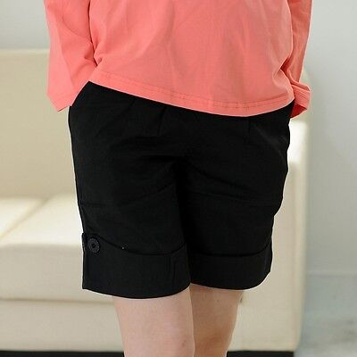 New Women Maternity Boxer Shorts Comfortable Prop Belly Pants Over Bump Trousers