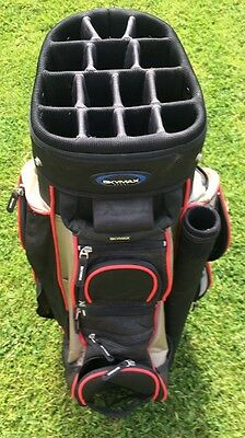 SKYMAX SPORT Black Trolley Cart Golf Bag 14-Way Divider Putter Tune 9 Pockets MK