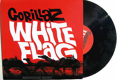 "GORILLAZ 10"" White Flag Record Store Day UNPLAYED Rare 1000 MADE Vinyl"