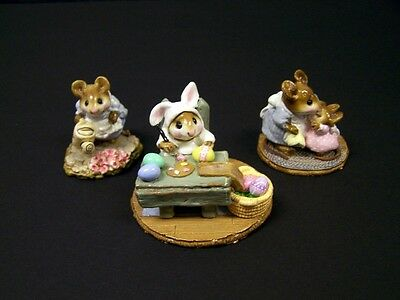 Lot Of 3 Wee Forest Folk -  Don't Cry,Egg Factory & ,Spring Gardener *Free S&H*