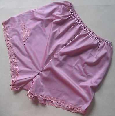 "VINTAGE ""NEW"" 1960s 70s CHARNOS Lingeries Silky Nylon LACY Cami Knickers Size 14"