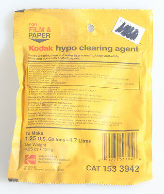 Kodak Hypo Clearing Agent 1.25 Gallon Unopened Package