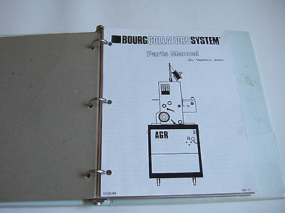 Bourg   Collator Sysems Parts List Manual Collator Stitcher Folder Cutter