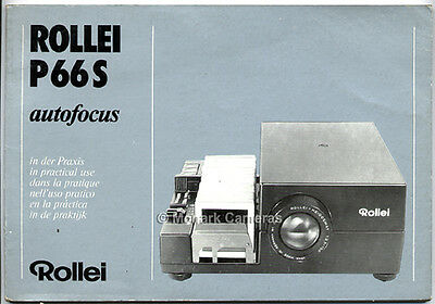 Rollei P66s 6x6 & 6x45 Projector Instruction Manual More Rolleiflex Books Listed
