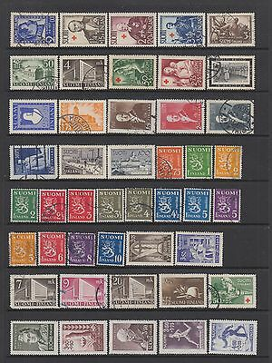 Finland mid period collection , 91 stamps.