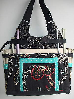 Large Knitting/Crochet Project Tote Bag-CALYPSO