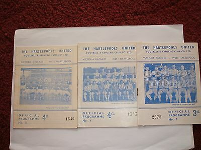 3 X  Hartlepools Utd Homes From The Sixties ( Ex Cond )
