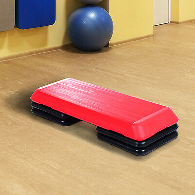 3 Level Exercise Stepper Aerobic Adjustable  Yoga Step Board Gym Fitness