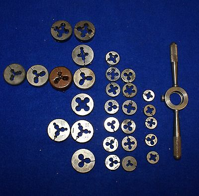Grouping Round Thread Dies SAE & Metric Assorted Manufactures Hanson, & Widell