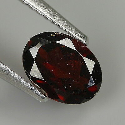 Superb 1.31 Ct Natural Africa ALMANDINE RED GARNET Oval Gemstone !!
